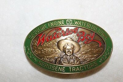 New 1990 John Deere Waterloo Boy Commemorative Belt Buckle Gasoline Engine Co