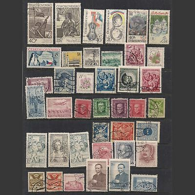 CZECHOSLOVAKIA:  small lot of stamps [1] -- used --