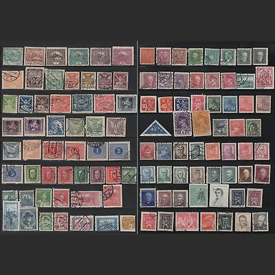 CZECHOSLOVAKIA:   lot of 100+ old stamps -- used --