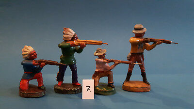 07.Indian.Cowboys.Masse Figur DDR..zu Elastolin.Hopf.Fischer.Lisanto..SEHR GUT