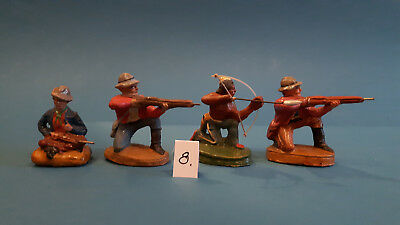 08.Indian.Cowboys.Masse Figur DDR..zu Elastolin.Hopf.Fischer.Lisanto..SEHR GUT