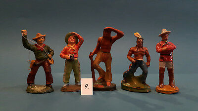 09.Indian.Cowboys.Masse Figur DDR..zu Elastolin.Hopf.Fischer.Lisanto..SEHR GUT
