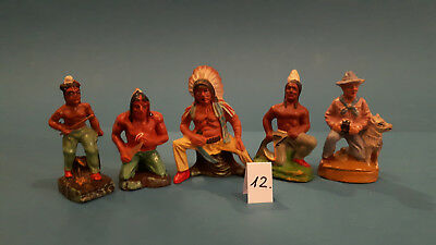 12.Indian.Cowboys.Masse Figur DDR..zu Elastolin.Hopf.Fischer.Lisanto..SEHR GUT