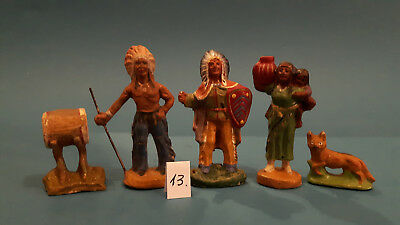 13.Indian.Cowboys.Masse Figur DDR..zu Elastolin.Hopf.Fischer.Lisanto..SEHR GUT