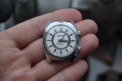 Mechanical watch POLJOT 18 jewels alarm clock with sound made in USSR Rare