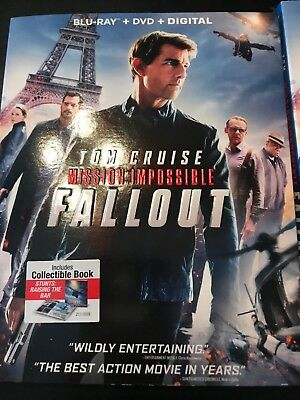Mission: Impossible Fallout Blu-ray + DVD + Digital Tom Cruise Brand New