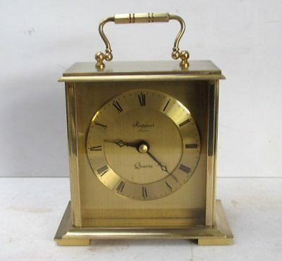 Vintage Rapport of London Brass Quartz Carriage Clock - Junghans Movement