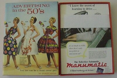 30 New Advertising In The 50's Postcards