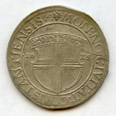 1625 Germany Constance City Thaler Rare Coin,toned Vf. Dav.#5177.