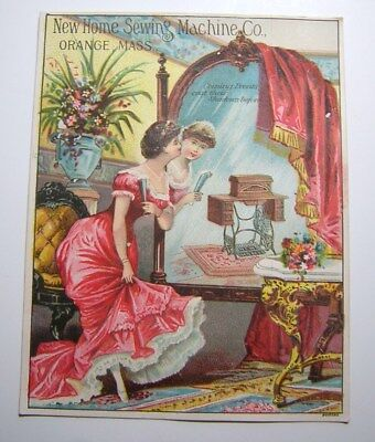 Antique Victorian New Home Sewing Machine Advertising Trade Card