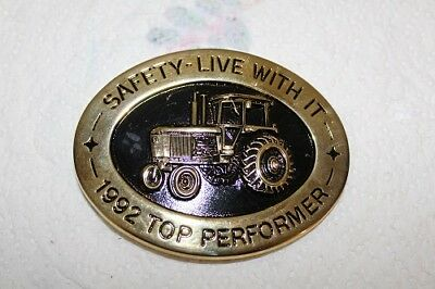 1992 John Deere TOP PERFORMER * SAFETY - LIVE WITH IT Belt Buckle Ser No. 791