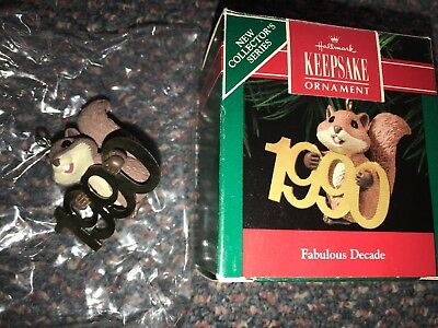 Fabulous Decade - Squirrel - First In The Series - Hallmark Ornament - 1990