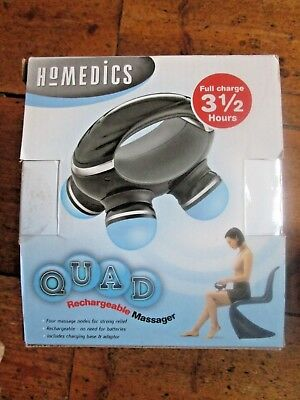 HOMEDICS Therapeutic Portable Hand-Held Rechargeable Body Massager - New in Box
