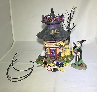 Dept 56 Witch Way? Flight School - Halloween Village Collection Used