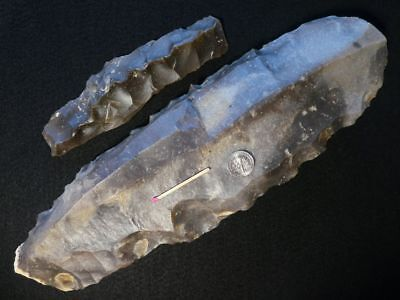 4500Y.O: ACE CORE 315mms + KEELED DAGGER LIVRE DE BEURRE STONE AGE NEOLITHIC BBC