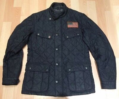 Barbour - Steve McQueen Jeffries Black Padded Jacket - Small - VGC