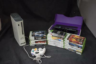XBOX360 Bundle 1 Console, 1 Controller,26 Games & Kinect Bar LOT WW