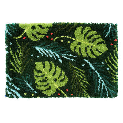 Vervaco Latch Hook Kit -  Rug - Leaves -  Needlecraft Kits