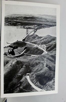 California CA San Francisco Golden Gate Bridge Postcard Old Vintage Card View PC