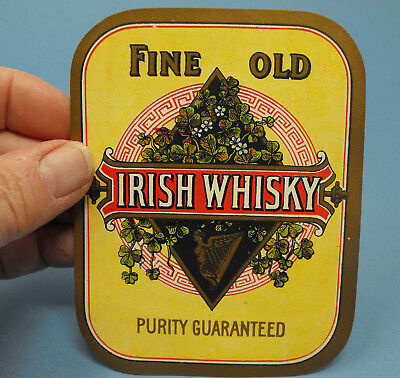 Vintage FINE OLD IRISH WHISKY BOTTLE LABEL