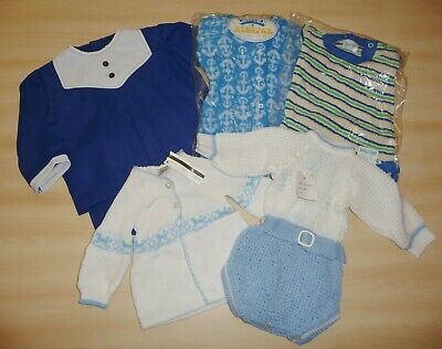 5 x VINTAGE 1970's & 80's ASSORTED UNWORN BABY ITEMS - MIXED AGES & STYLES