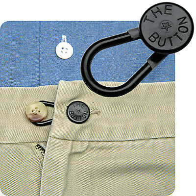 """5 """"Unbreakable*"""" PANTS WAIST EXTENDERS FOR JEANS or Khaki Pants - No Sewing"""