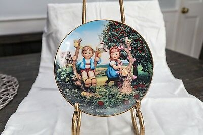 """M.I. Hummel Plate Collection- Plate #LS4612 """"Apple Tree Boy and Girl"""" LIMITED ED"""
