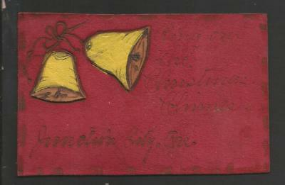 Ring Out The Christmas Chimes Vintage Leather color Card>1907>posted