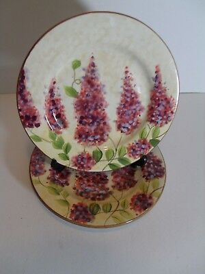 SET of 2 - Heritage Mint WISTERIA Salad PLATES - 8 1/2""