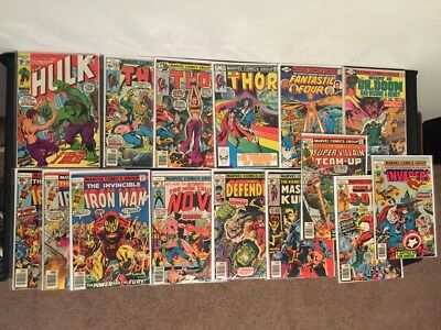 Large lot of Early Bronze Age Marvel Comic Books