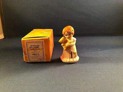 1981 Enesco Growing up Brunette Year One figurine - With box