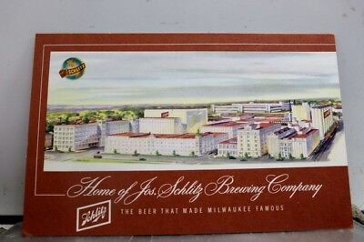 Ad Schlitz Brewing Company Milwaukee Wisconsin WI Postcard Old Vintage Card View