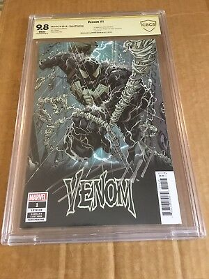 VENOM #1 (2018) CBCS 9.8 3rd Print Variant Signed By Donny Cates (NOT CGC)