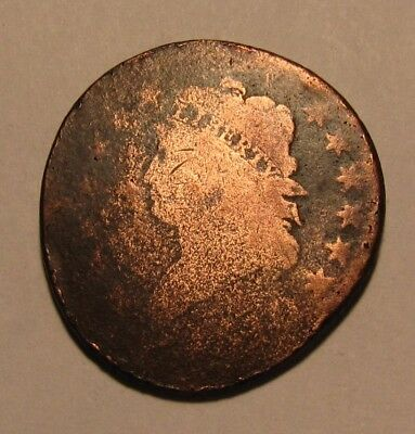 1810 Classic Head Large Cent Penny - Circulated Condition / Damaged - 84SU-3