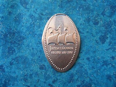 JAMESTOWN VIRGINIA 1607-2007 Elongated Penny Pressed Smashed 11