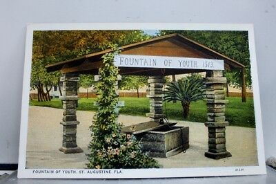 Florida FL Fountain of Youth St Augustine Postcard Old Vintage Card View Post PC