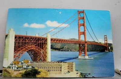 California CA Golden Gate Bridge San Francisco Postcard Old Vintage Card View PC
