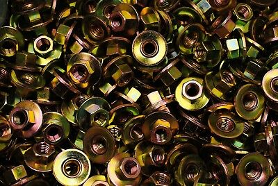 "(150) Conical Washer Nuts 3/8-16 Free-Spinning Yellow Zinc Plated 1"" OD Coarse"