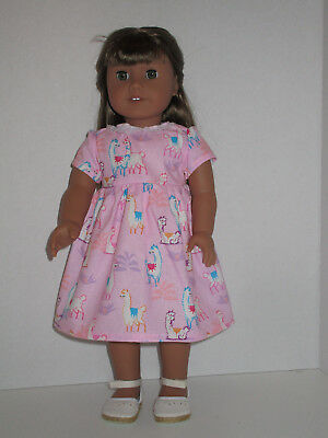 "Llamas/Pink Dress for 18"" Doll American Girl Doll Clothes"
