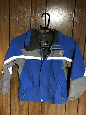 The North Face Boys Kids Hyvent Hooded Jacket Blue Gray Small