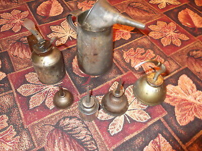 Lot of antique/vintage pump oil cans Eagle and others