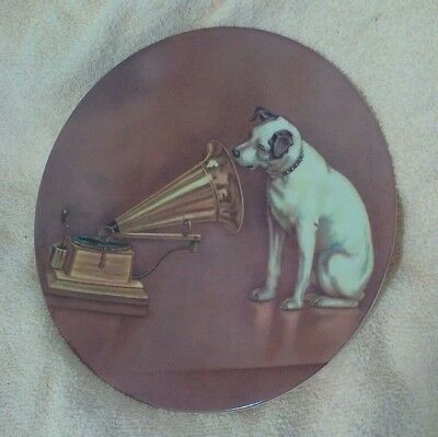 Rca Nipper Dog Plate His Masters Voice 8 1/2 In Nostalgic Collector's Edition