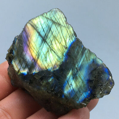 59g Natural labradorite Quartz Polished Specimen Madagasca  49x43MM  a83