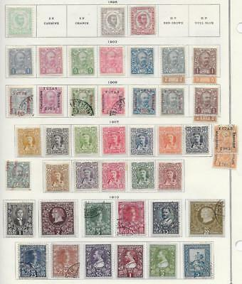 47 Montenegro Stamps from Quality Old Album 1898-1910