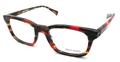 Alain Mikli Rx Eyeglasses Frames A03039 3070 50x19 Havana Red Brown Grey Italy