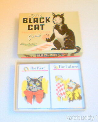 """Rare 1940s """"The Black Cat"""" Parker Bros. Fortune Telling Halloween Game"""