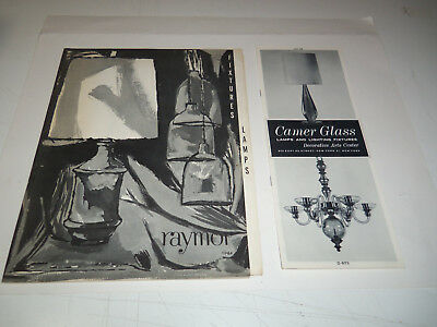 1964 RAYMOR & CAMER GLASS Lot 2 Catalogs LAMPS LIGHT FIXTURES LIGHTING w/ Prices