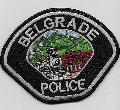 Scenic Train patch Belgade Police State Montana MT