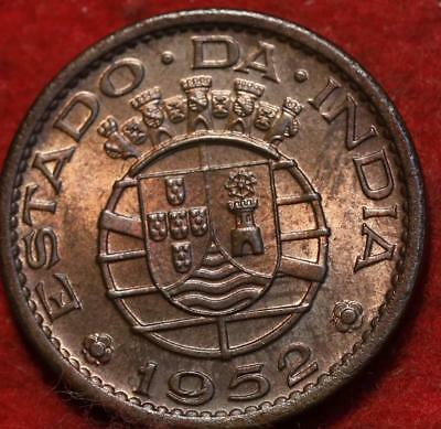 Uncirculated 1952 Portuguese India 1 Tanga Foreign Coin