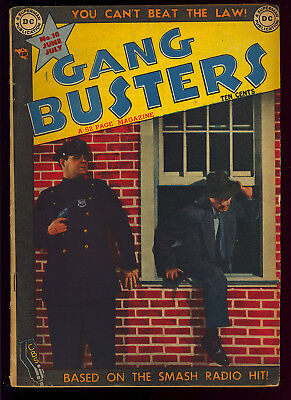 Gang Busters #10 Nice Pre-Code Golden Age Photo Cover DC Crime Comic 1949 FN-